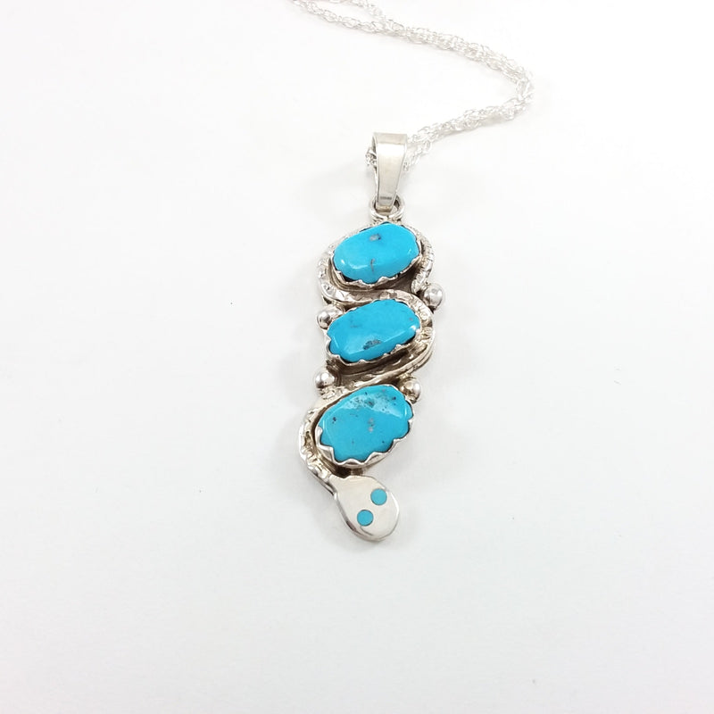 Effie Calabaza turquoise sterling silver pendant