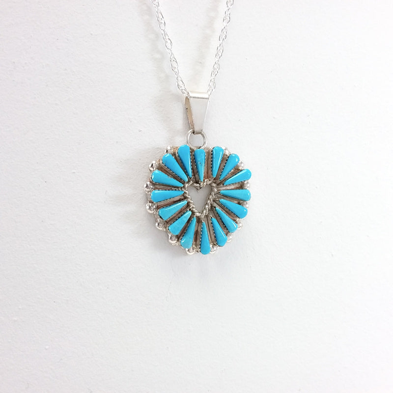 Turquoise/Coral Cross Pendant