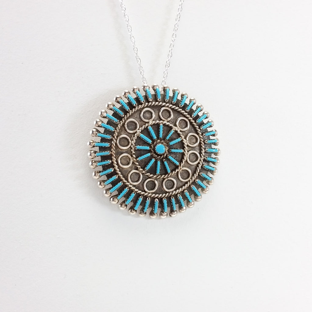Philander Gia turquoise sterling silver pin/pendant