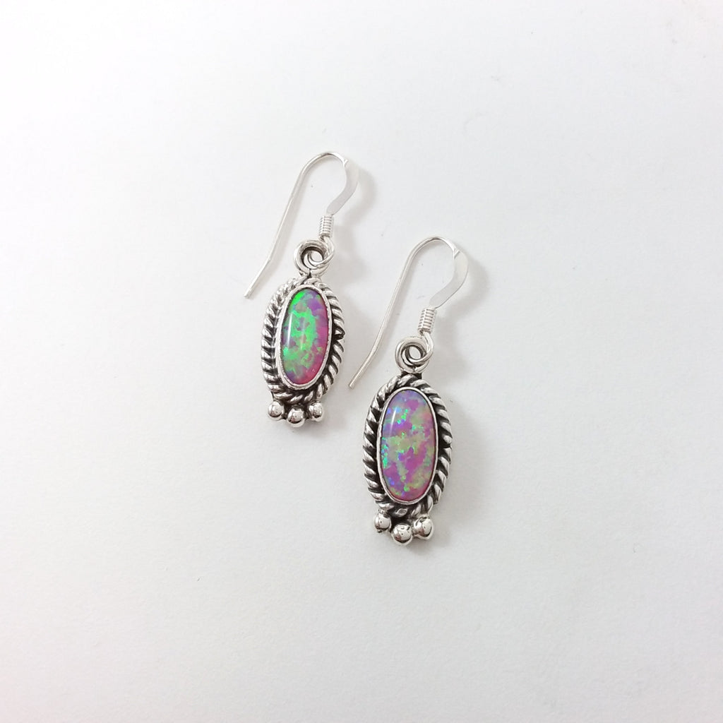 Navajo opal sterling silver earrings.