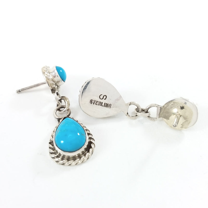 Sheila Becenti turquoise sterling silver earrings.