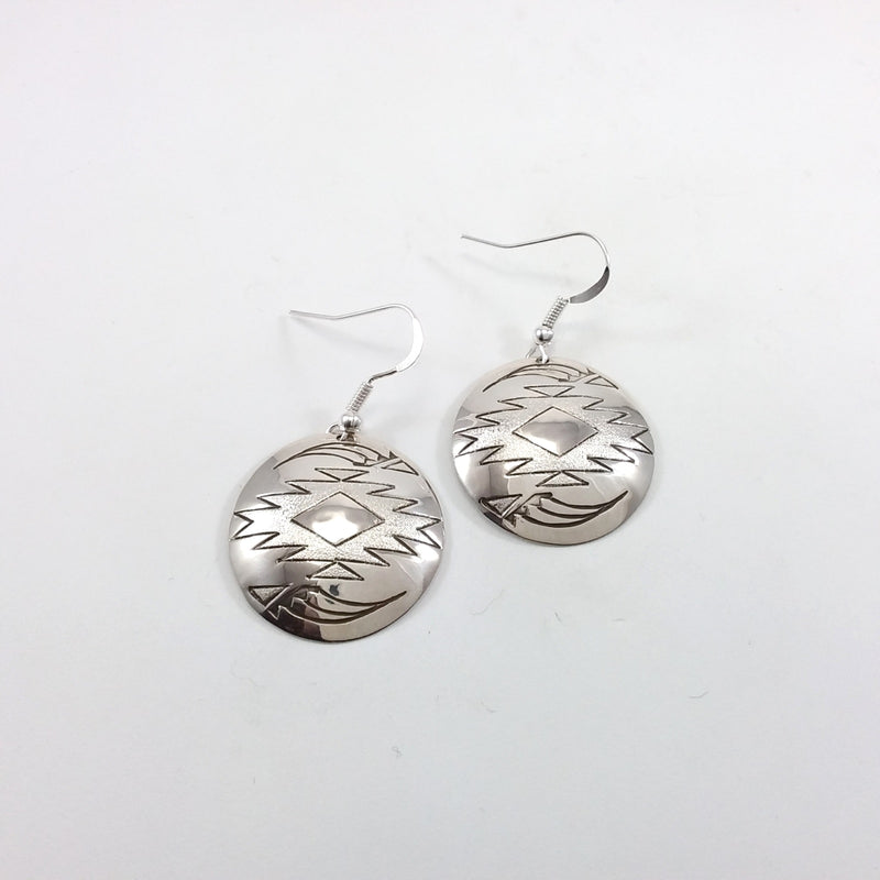 Navajo sterling silver earrings.