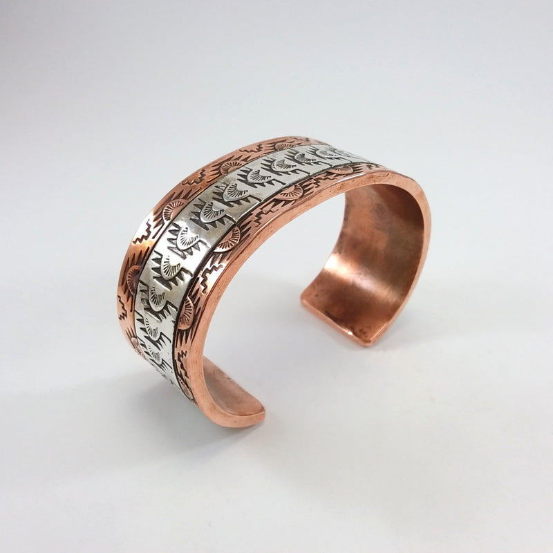 Copper/Silver Stamp Bracelet