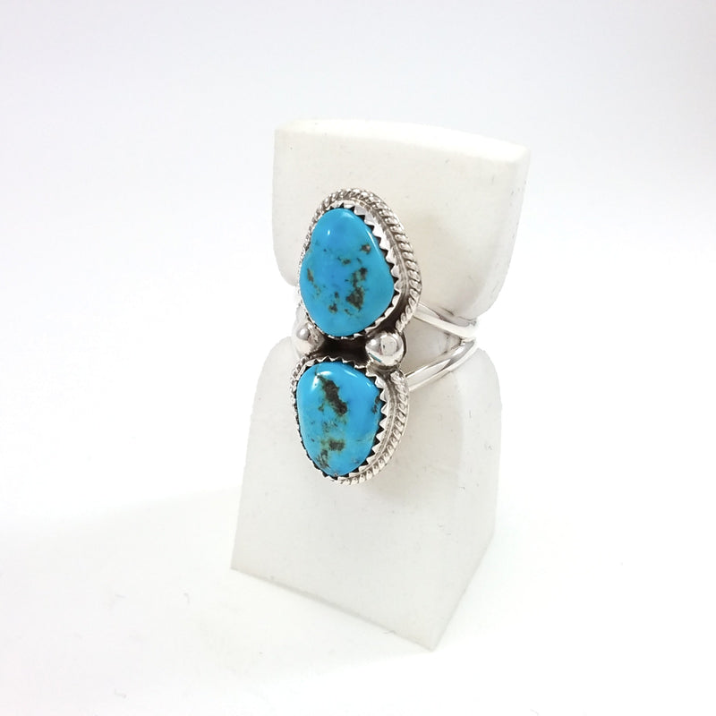 Navajo turquoise sterling silver ring.