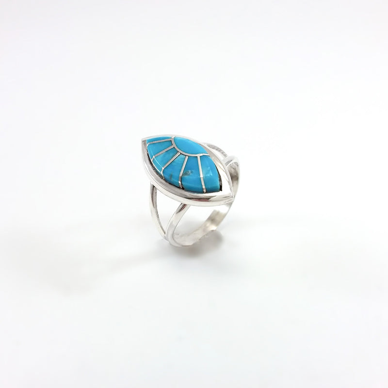 Zuni Turquoise Inlay Ring