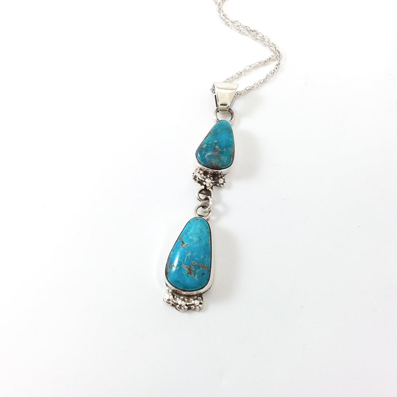Navajo turquoise sterling silver pendant.