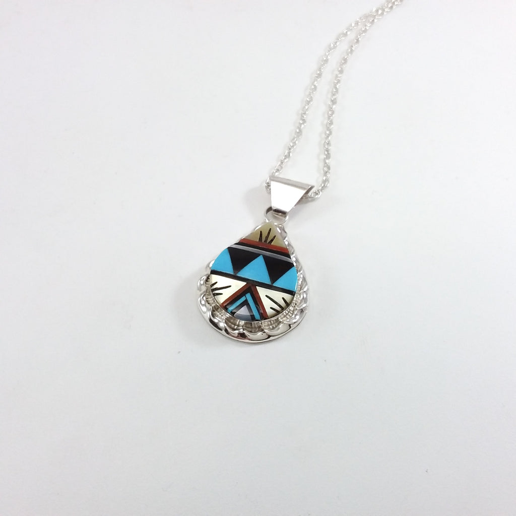 Zuni multi stone inlay pendant.