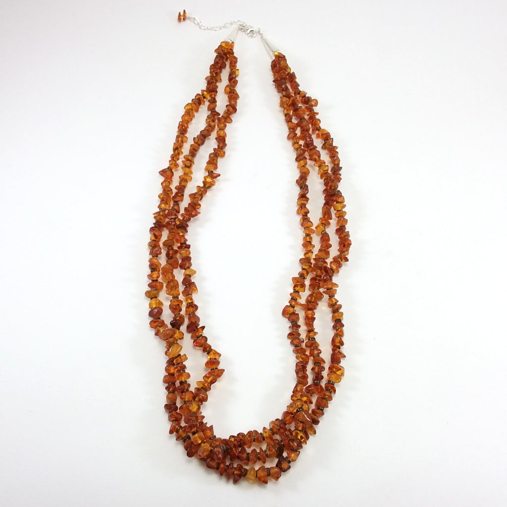 Amber Bead Necklace - Navajo