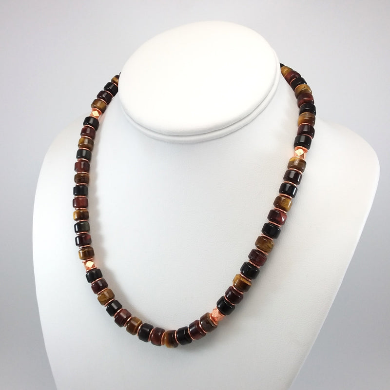 Tiger's Eye/Onyx Necklace