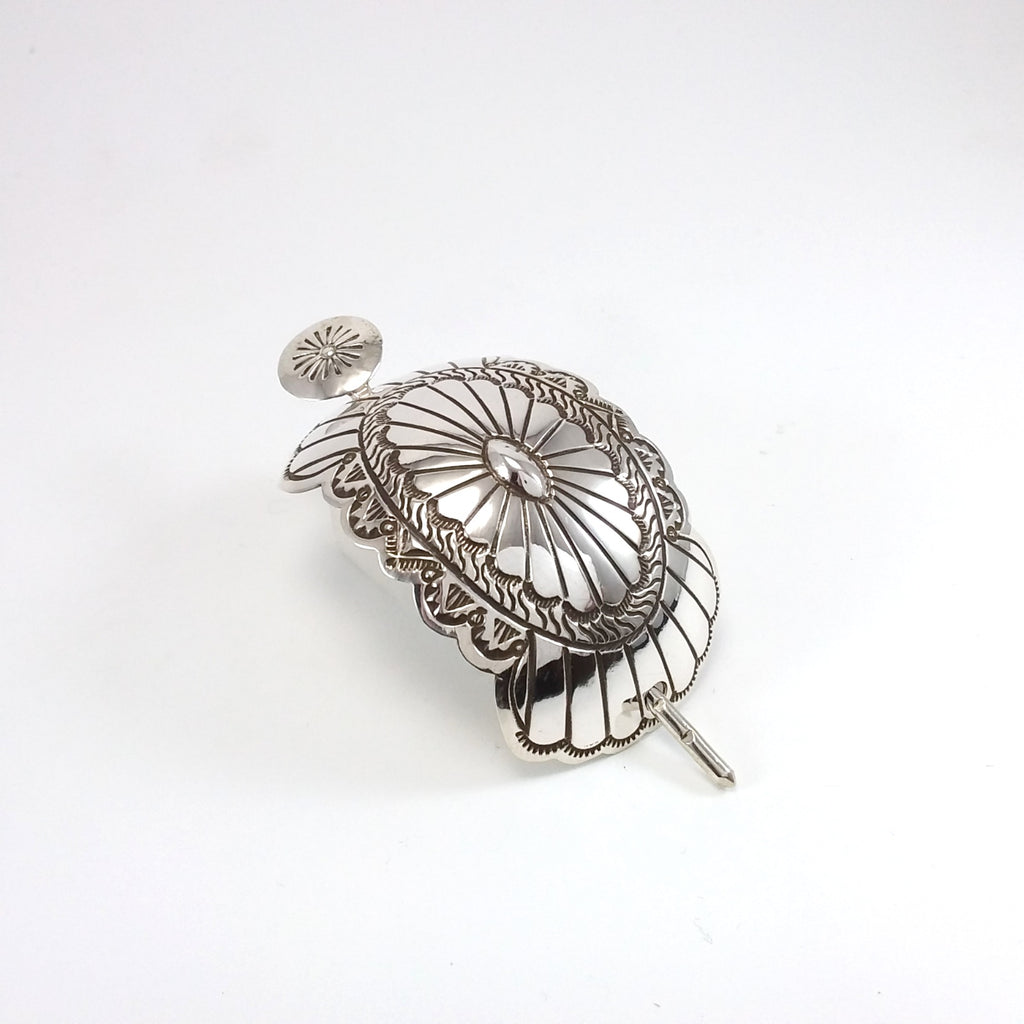 Arnold Blackgoat Silver Stamp Hair Pin