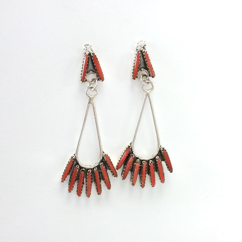 Sally Arviso Coral Triangle Stud Earrings