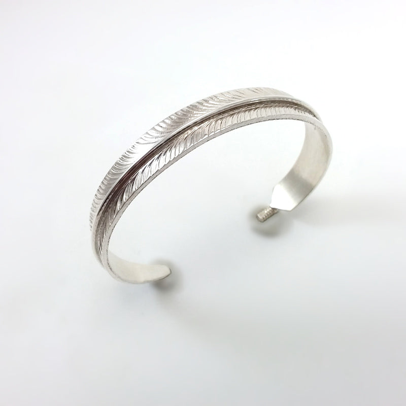 Cris Charley Silver Feather Bracelet