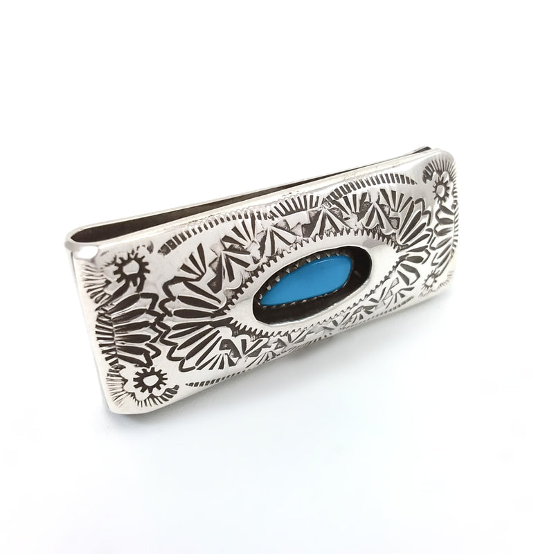 Shirley Skeets Turquoise Money Clip