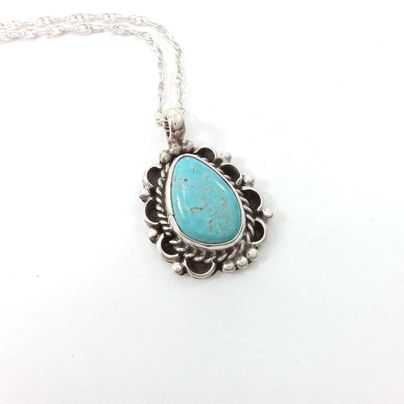 Gene Martinez turquoise sterling silver pendant.