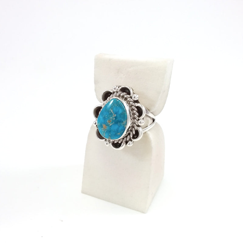 Gene Martinez Navajo turquoise sterling silver ring.