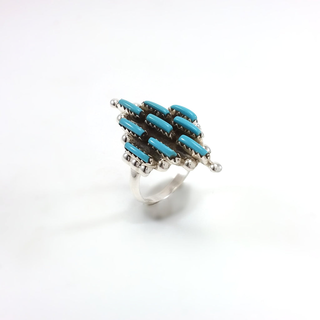 Nathan Shorty Navajo turquoise sterling silver ring.