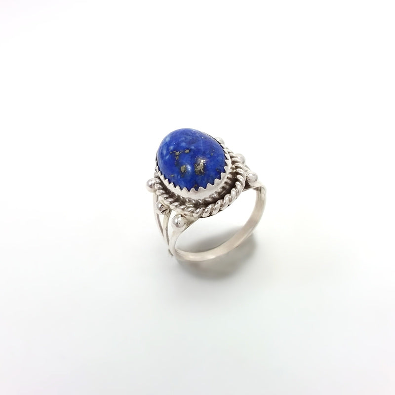 Navajo lapis sterling silver ring.