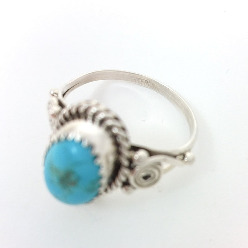 Freda Martinez Navajo turquoise sterling silver ring. Native American Indian Jewelry 9.25, Rings under 50