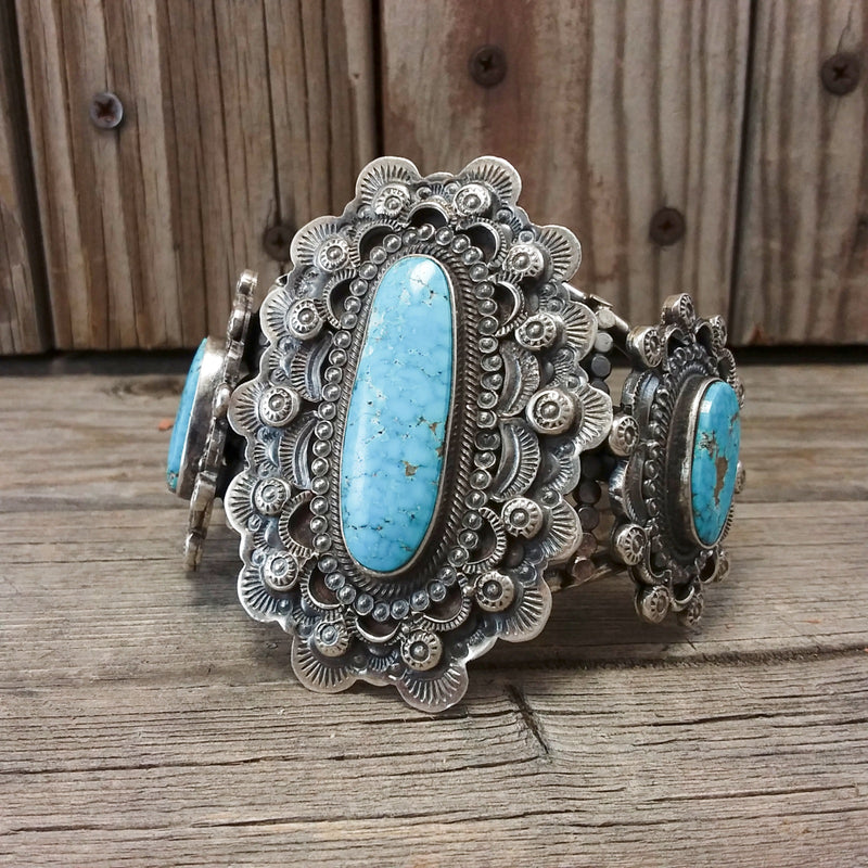 Turquoise Concho Belt by Terry Charlie