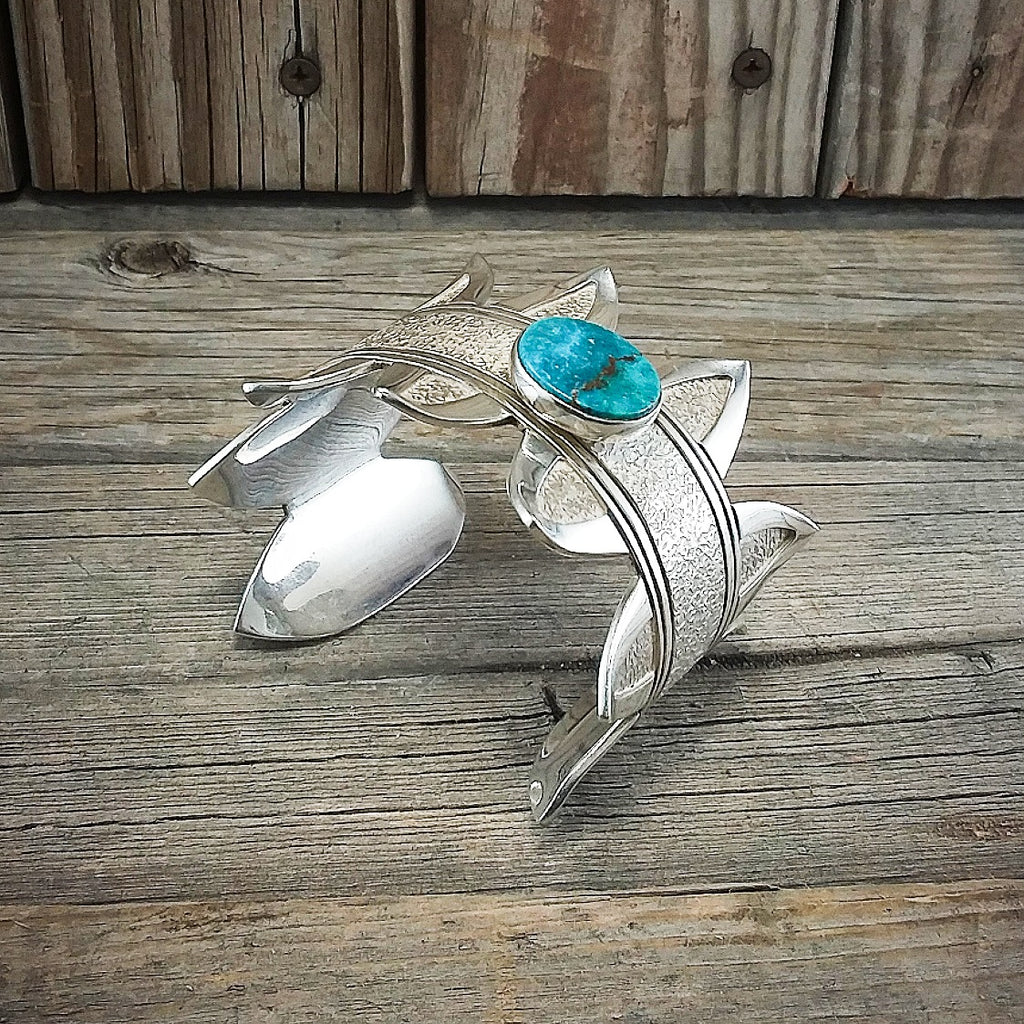 Jonathan Mike turquoise sterling silver bracelet.