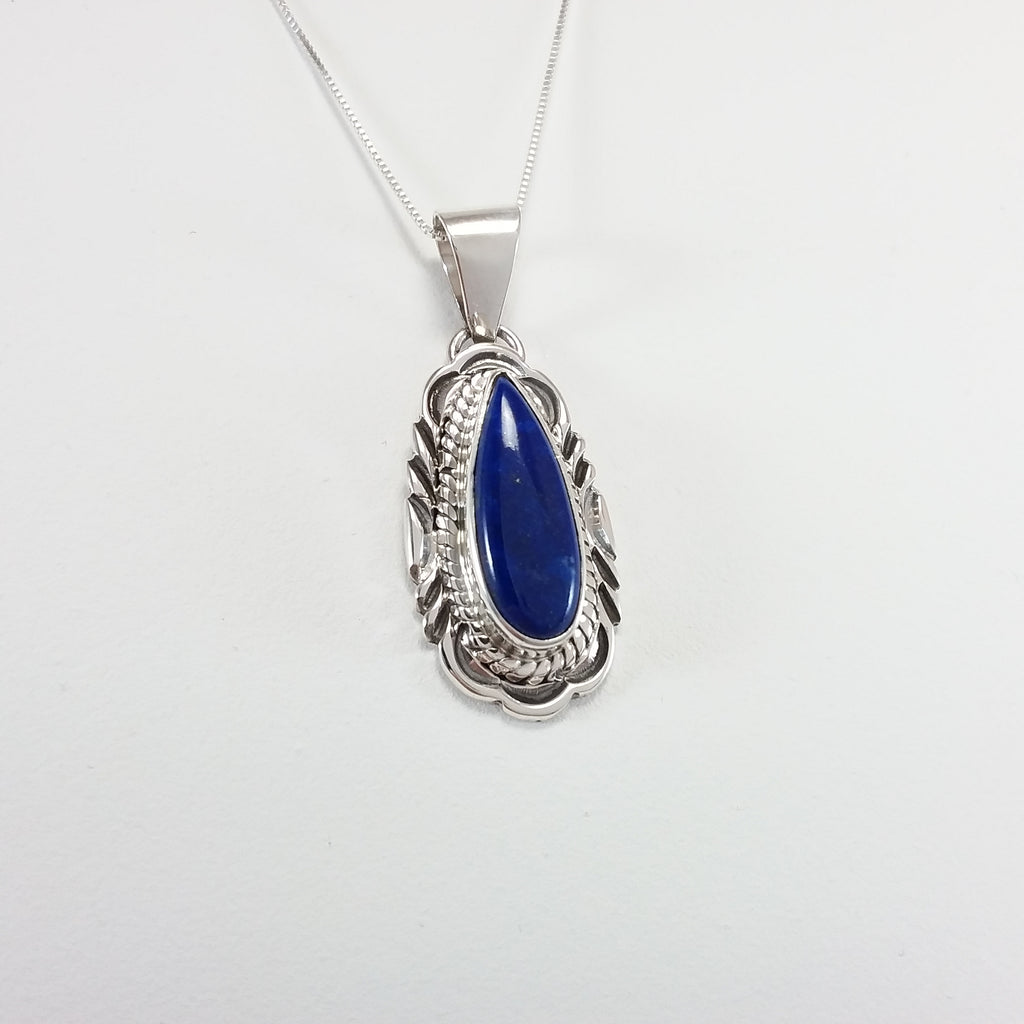Virgil Chee lapis sterling silver pendant.