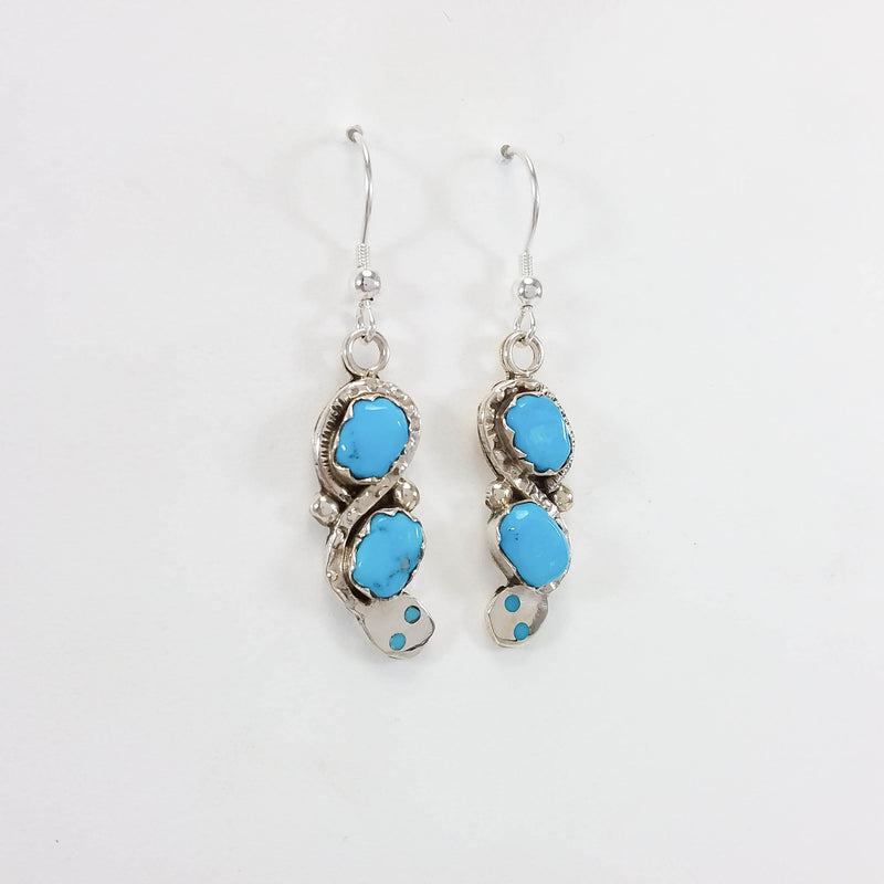 Effie Calabaza turquoise sterling silver earrings.