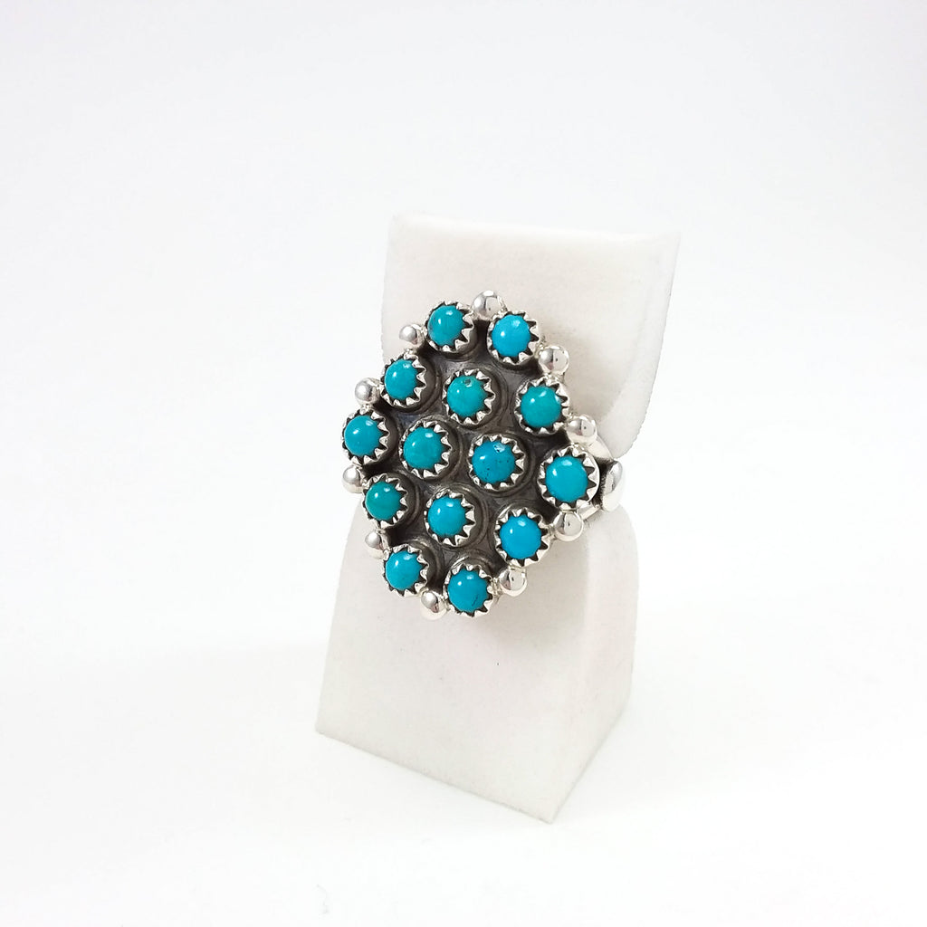 Turquoise Cluster Ring by Verde Jake
