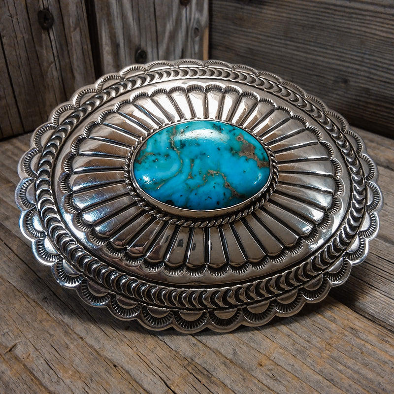A.J. Platero Navajo turquoise sterling silver belt buckle. A.J. Platero Navajo turquoise sterling silver belt buckle, Cowboys Belt Buckle, Chunky Belt Buckle, navajo