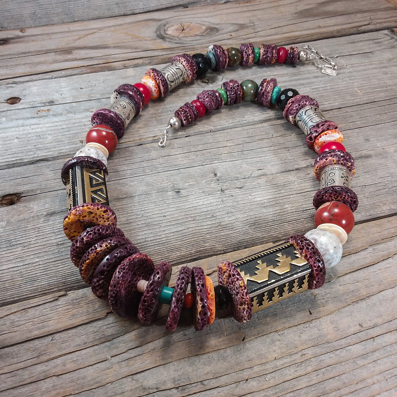 Beaded Necklace By Richard Singer
