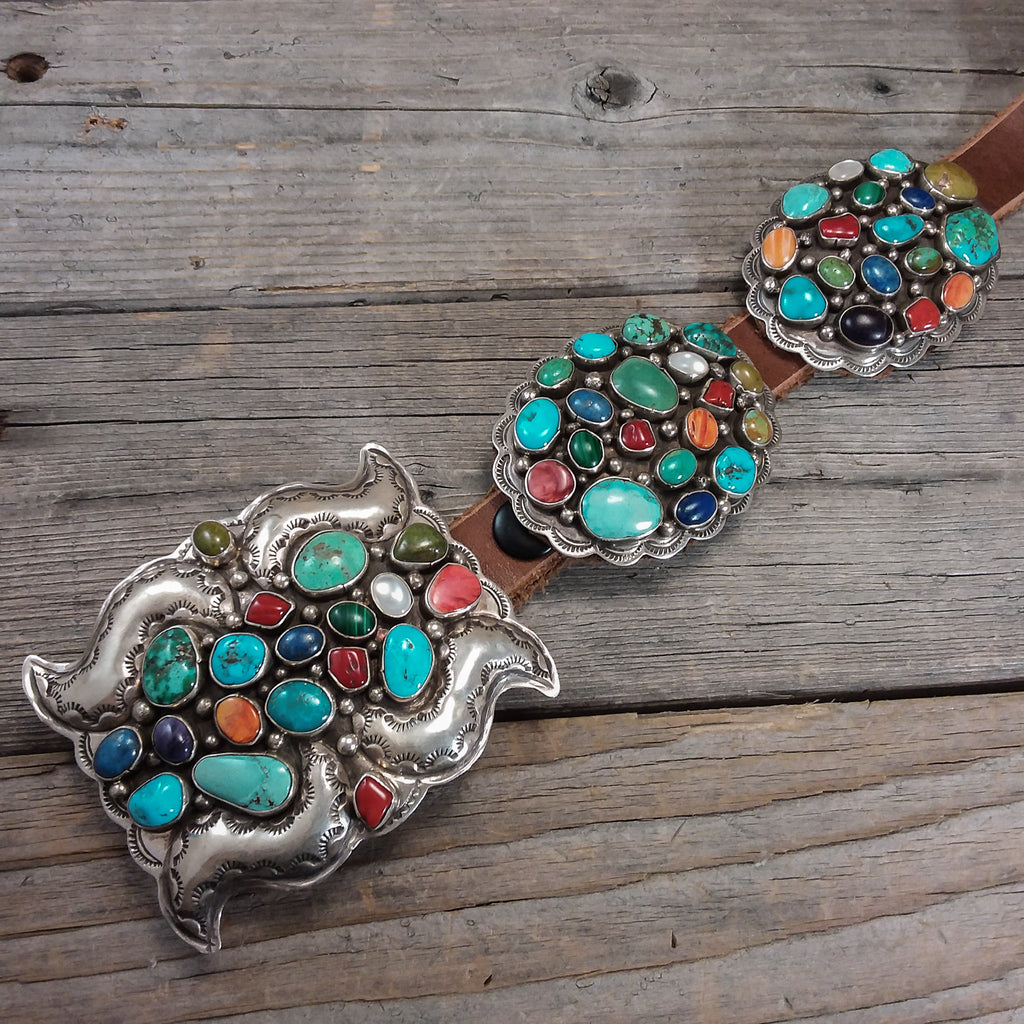 Navajo Multi Colored Concho Belt