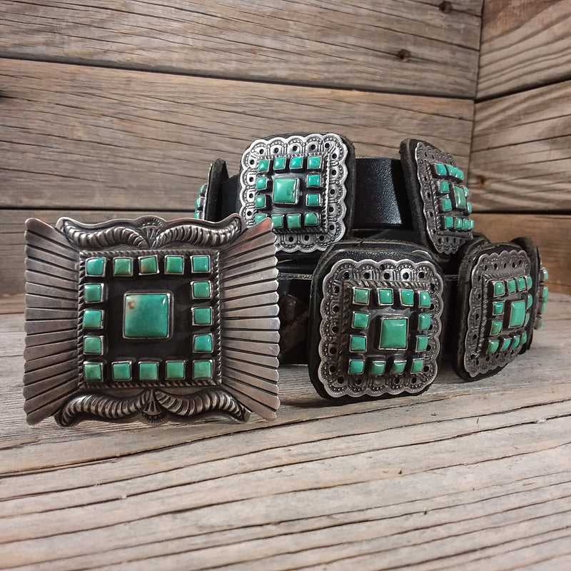 Turquoise Concho Belt by Dan Martinez