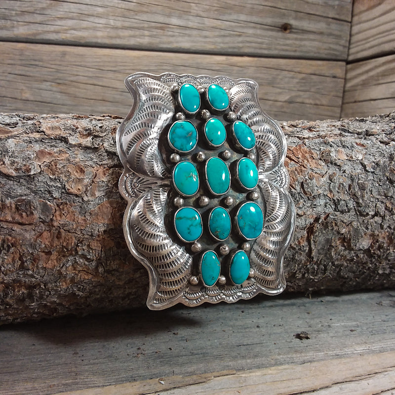 Turquoise Cluster Concho Belt