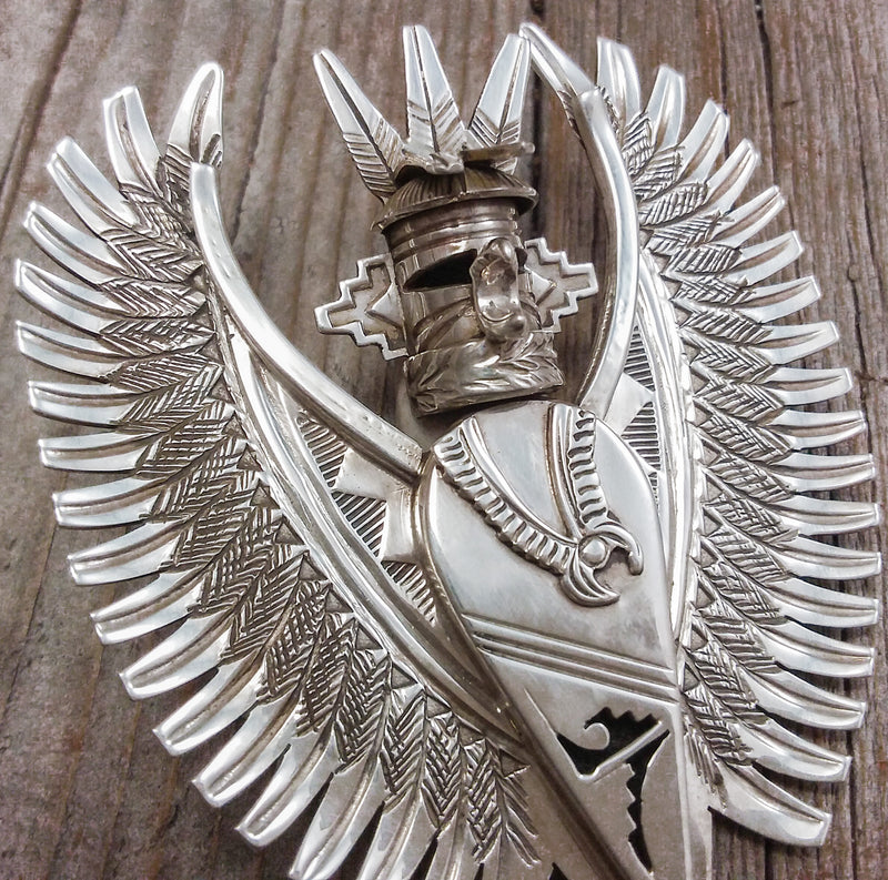 Silver Eagle Dancer Pendant/Pin By Nelson Morgan