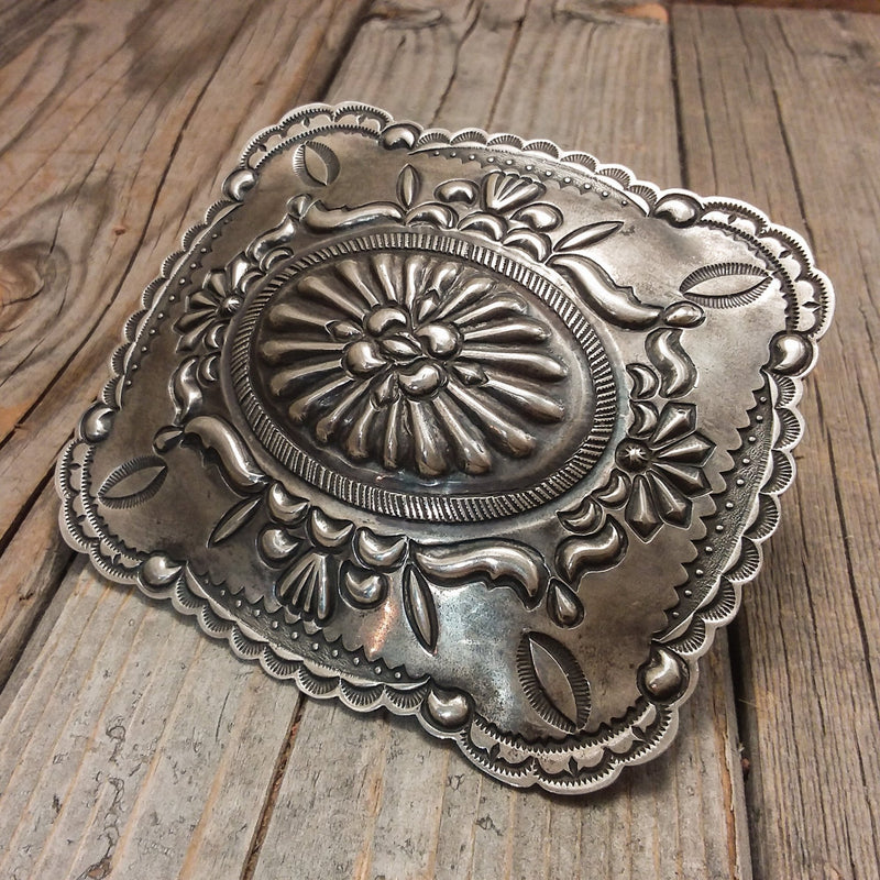 Silver Stamped Buckle By Thomas Charlie