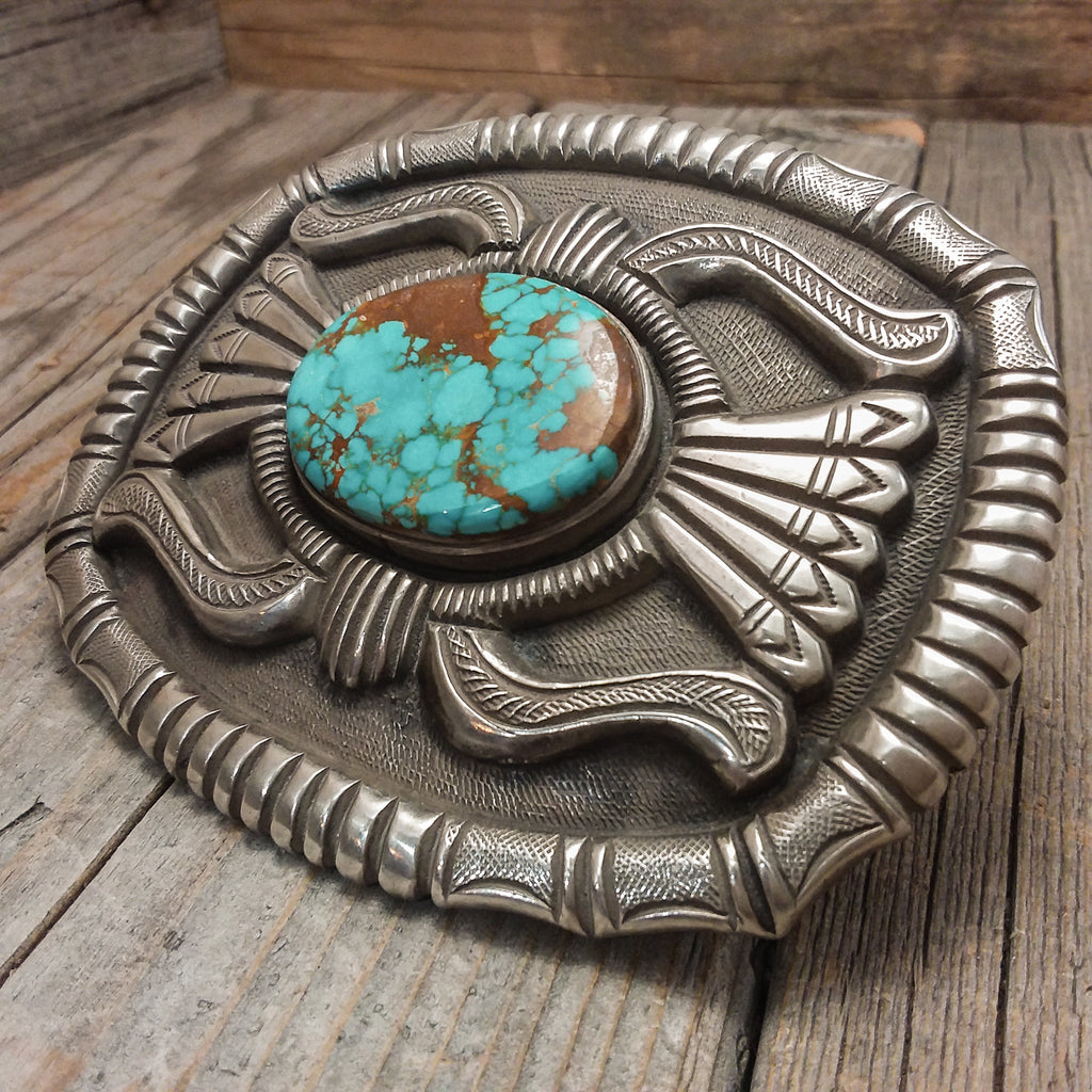 Turquoise Buckle By Calvin Martinez