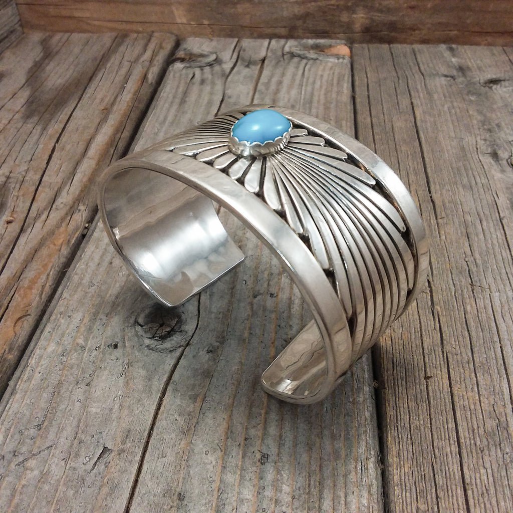 Turqoise Silver Bracelet By Wes Craig