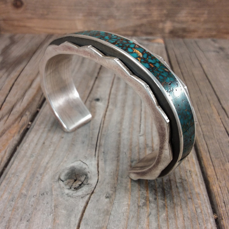 Inlay Turquoise Band Bracelet By Loretto