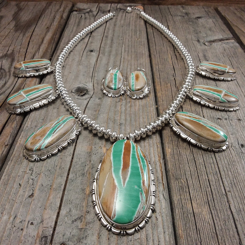 Boulder Turquoise Necklace Set By Thomas Francisco