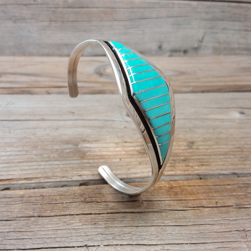 Marvin Laurkie Inlay Turquoise Bracelet