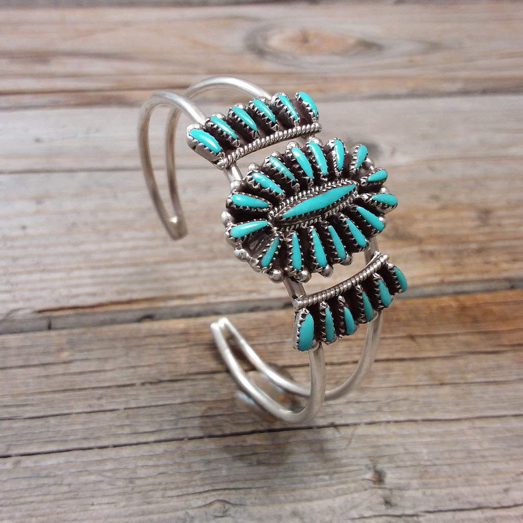 Judy Wallace Turquoise Needle Point Bracelet