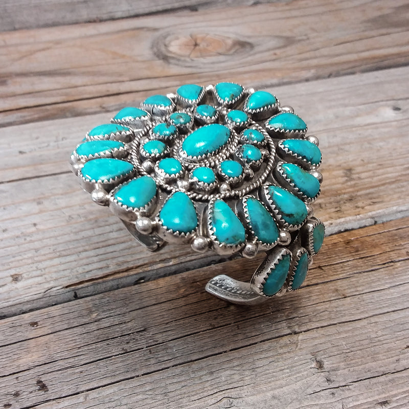 Evelyn Platero Turquoise Cuff