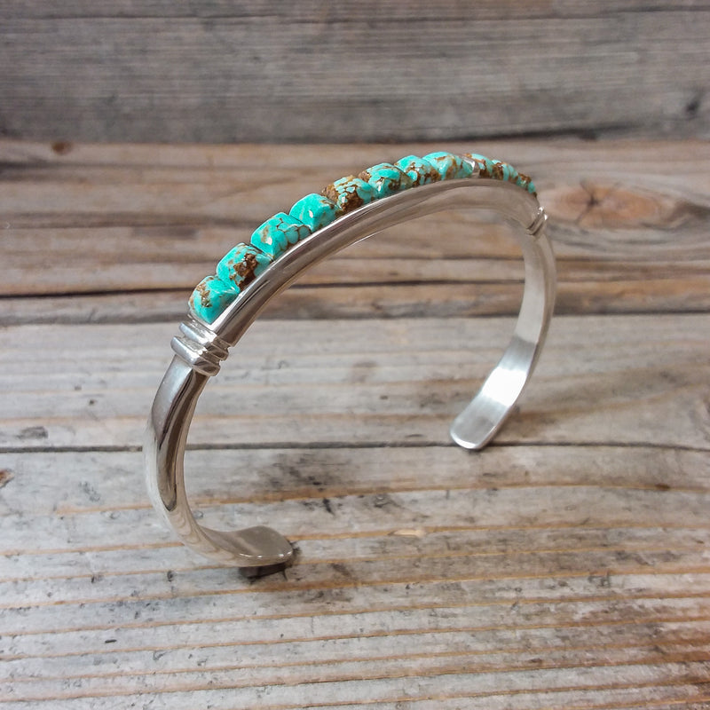 Green Turquoise Inlay Bracelet