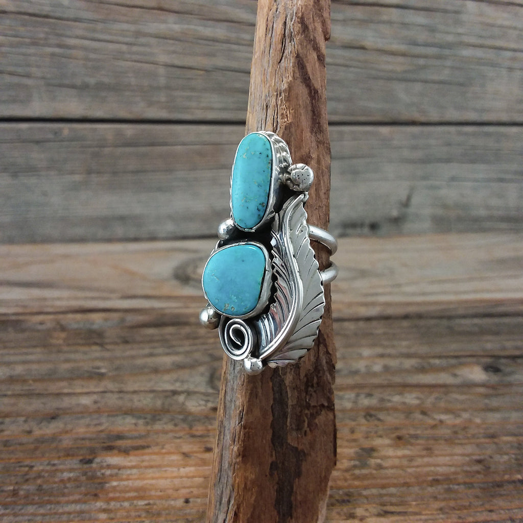 P. Lee Turquoise Feather Ring