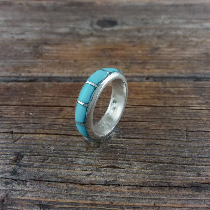 Inlay Turquoise Band Ring