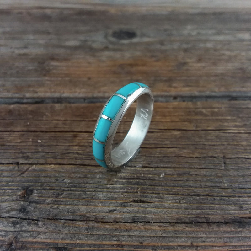 Turquoise Inlay Band Ring