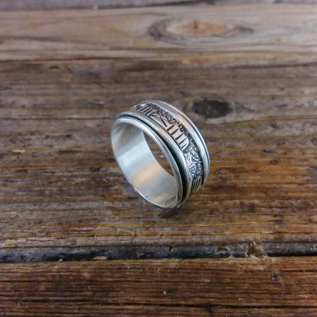 Fred Begay Silver Spinner Ring