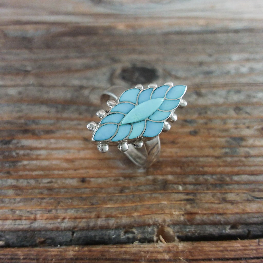 FSH Zuni Turquoise Inlay Ring