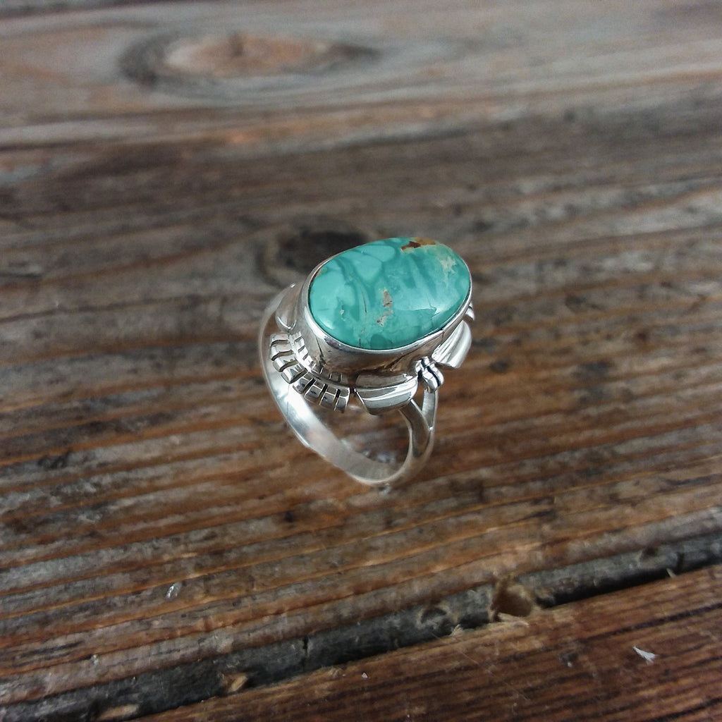 F.F. Navajo Turquoise Ring