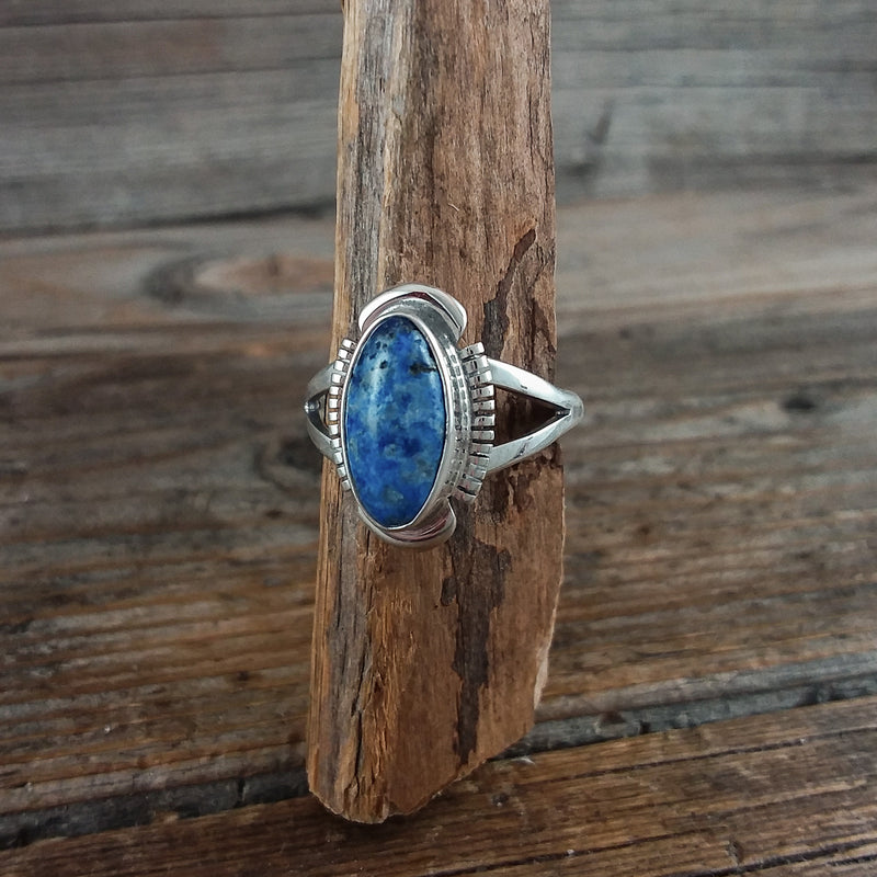 Dark Blue Turquoise Ring Ben Martinez