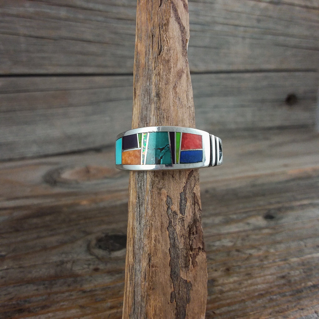 Rick T Multi Stone Inlay Ring
